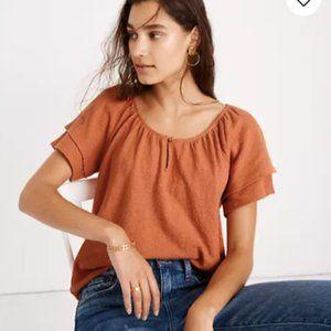 Madewell Texture & Thread tiered sleeve top L